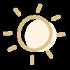 Icono de un sol que simboliza el servicio de guardería de mañana en enDARA