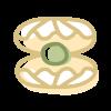 Icono de una concha abierta con una perla en su interior que simboliza el servicio de guardería de tarde