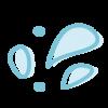 Icono de gotas de agua que simboliza el servicio de colonias de verano en enDARA.