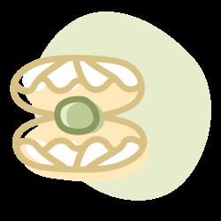 Concha abierta con una perla en su interior: Simboliza la creación un entorno seguro para despertar el potencial de los niños