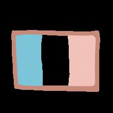 Icono de la bandera francesa que simboliza el servicio de actividades extraescolares en enDARA.