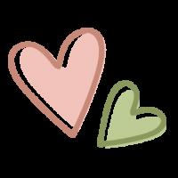 Icono con dos corazones que simboliza el servicio de terapia ocupacional infantil en enDARA.